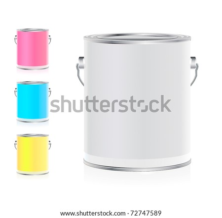 Set of colorful buckets #72747589