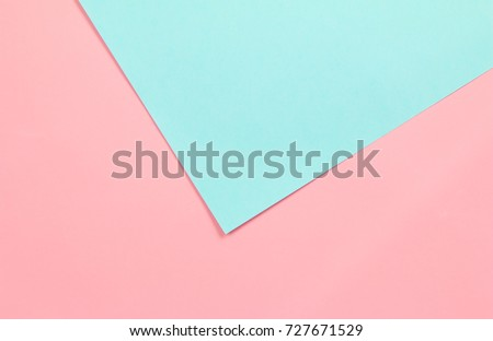 Colorful of soft green and pink paper background.