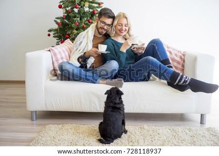 Couple celebrating new year #728118937