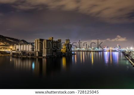 view of Barcelona by night from Fascinosa cruise #728125045