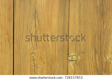 wooden texture of yellow boards, a fence of dry boards #728157853