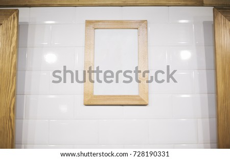 White poster on white wall #728190331