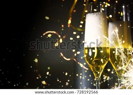 New Years Eve celebration background #728192566