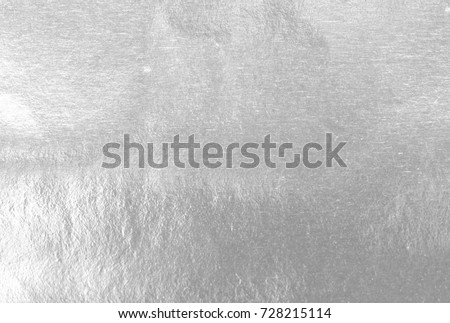 Shiny leaf silver foil paper background texture #728215114