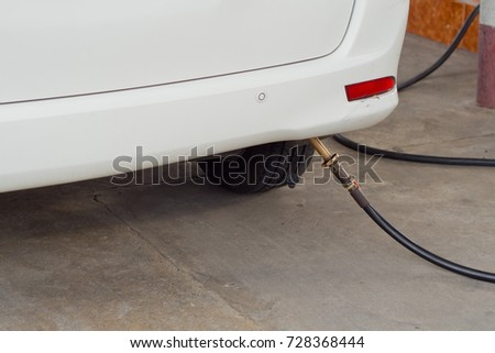 Gas filling station. car  #728368444