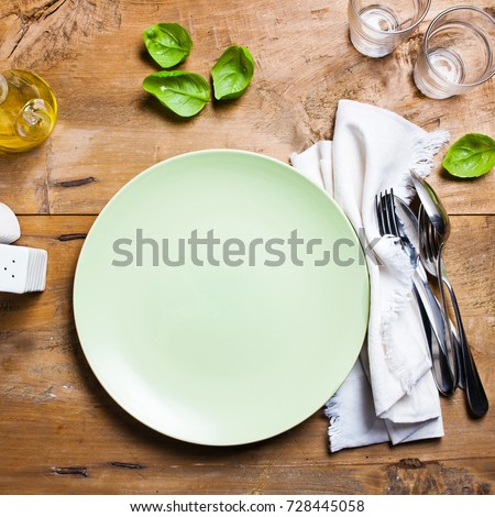 empty plate on table #728445058