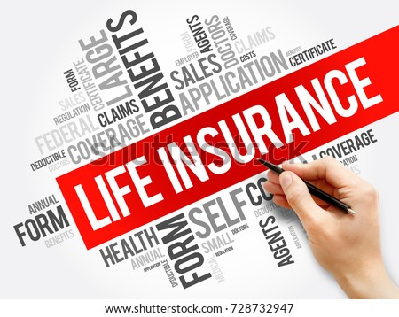 LIFE Insurance word cloud collage, healthcare concept background #728732947