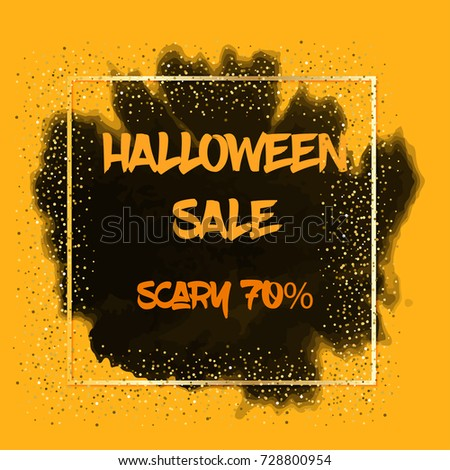 Happy Halloween Party Banner Template. Vector Holiday Sale flyer. Greeting Card for Halloween. #728800954