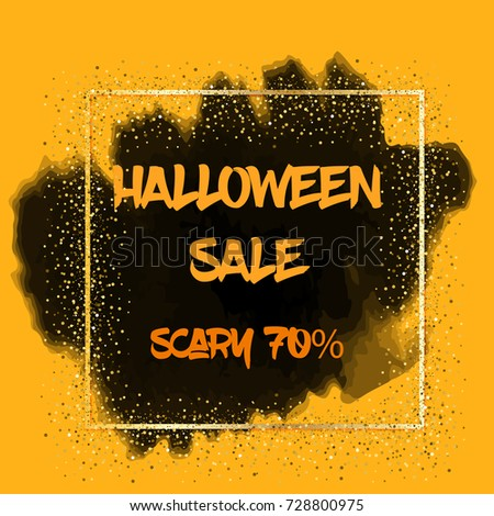 Happy Halloween Party Banner Template. Vector Holiday Sale flyer. Greeting Card for Halloween. #728800975