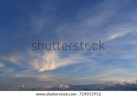 Beautiful cloud pattern on the sky #729015952