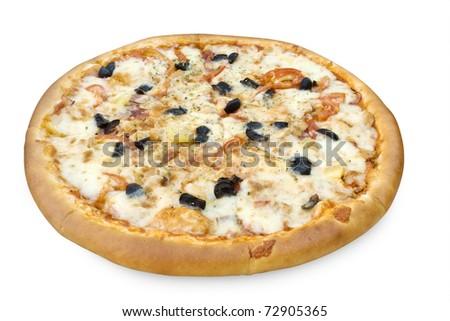 Italian pizza over white #72905365