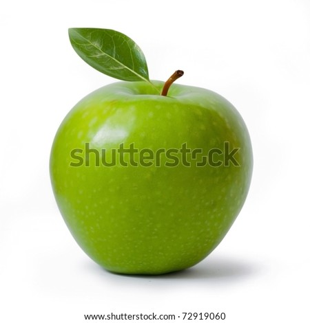 green Granny Smith apple isolated on white, clipping path included #72919060