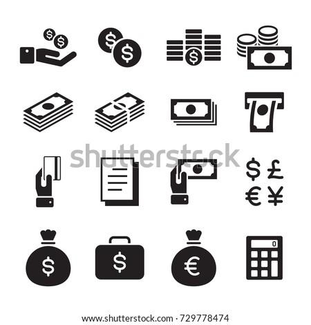 icon money set, vector #729778474