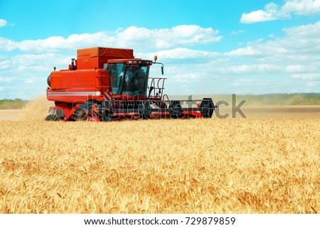 Modern agricultural equipment on field #729879859