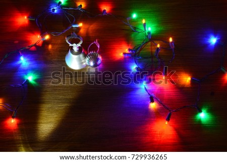 Christmas ornaments, messages, riding the Christmas tree #729936265
