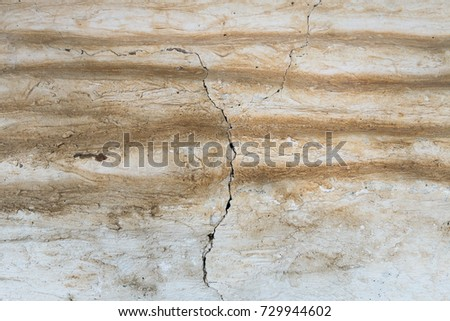 Surface roughness and pattern on the background, damaged cement floor #729944602