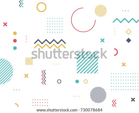 Pattern Hipster  Abstract. Form Geometric Line Shapes. fashion style seamless background. Royalty-Free Stock Photo #730078684