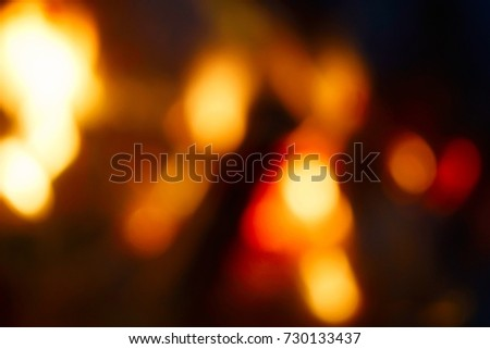 Picture of dark blurred fire