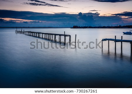 An old pier found off East Beach Drive in Panama City, Florida #730267261