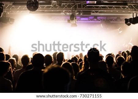 People at a concert #730271155