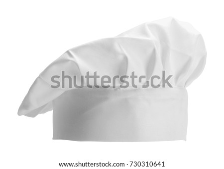 Professional Chef Hat Short Isolated on a White Background. #730310641