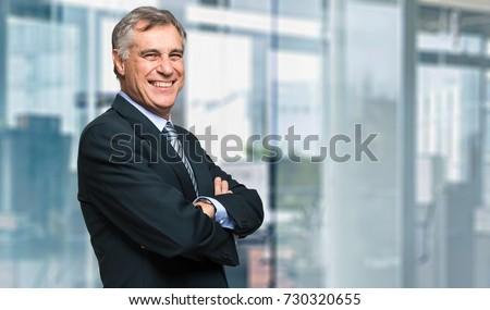 Mature businessman portrait Royalty-Free Stock Photo #730320655