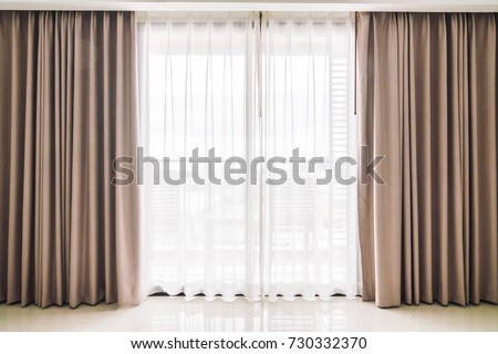 Curtains window decoration interior of room Royalty-Free Stock Photo #730332370