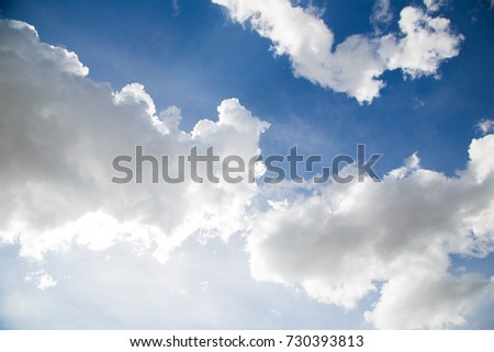 Blue sky with clouds nature background #730393813