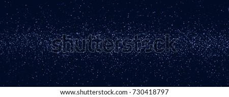 Space stars background. Light night sky vector.