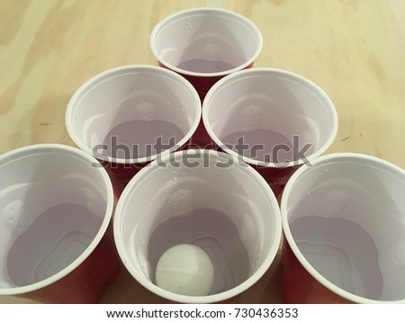 Beer Pong Table With Cups #730436353