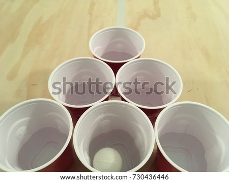 Beer Pong Table With Cups #730436446