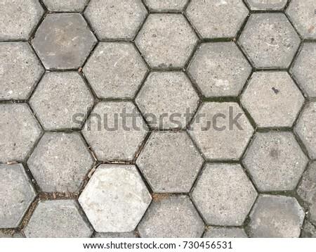 Concrete blocks pattern pavement #730456531