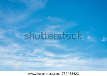 Blue sky with soft clouds and beautiful day #730468423