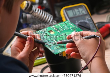 Repair of electronic devices, tin soldering parts #730471276