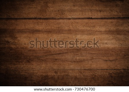 Old grunge dark textured wooden background,The surface of the old brown wood texture #730476700