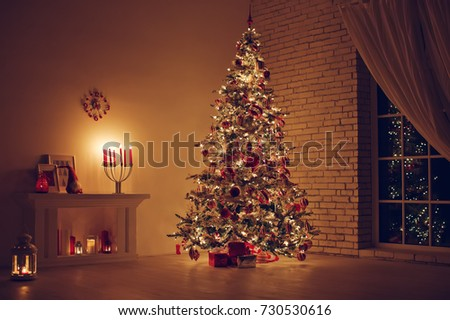 House in Christmas  #730530616
