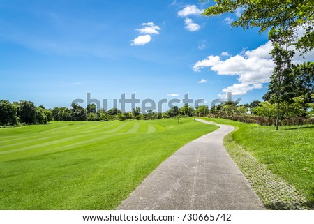 Road for golf cart at golf club