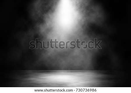 White spotlight stage design abstract background. #730736986