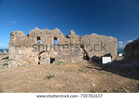 Anemurium, ruins of ancient city in Turkey #730782637