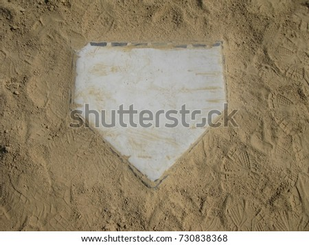 Home plate surrounded by sand #730838368