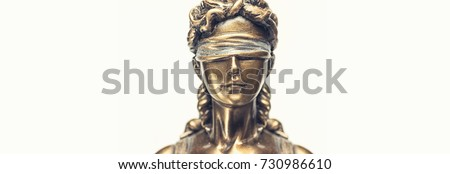 Face of lady justice or Iustitia - The Statue of Justice  #730986610