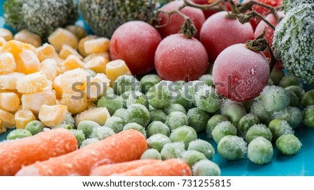 frozen vegetables Royalty-Free Stock Photo #731255815