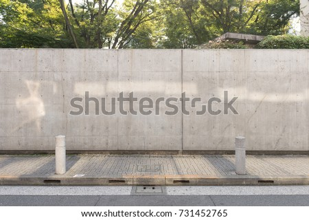 street wall background ,Industrial background, empty grunge urban street with warehouse brick wall Royalty-Free Stock Photo #731452765