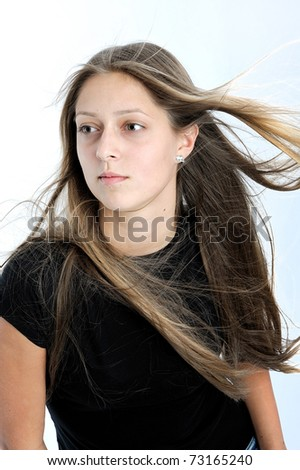 teenager girl in white background #73165240