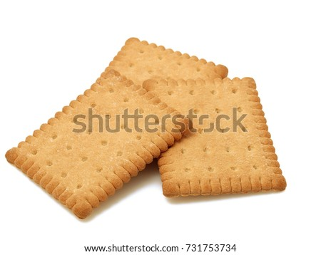 Tasty biscuits isolated Royalty-Free Stock Photo #731753734
