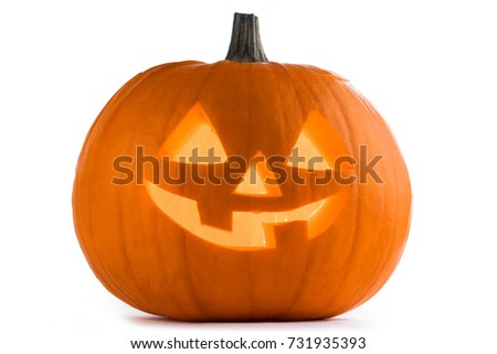 Halloween Pumpkin isolated on white background #731935393