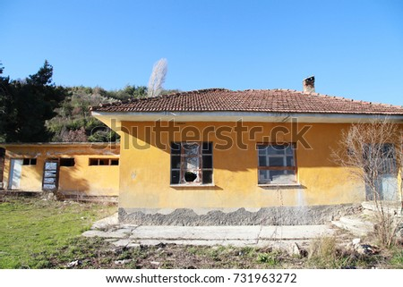 Old Turkish village school buildings in Turkey #731963272