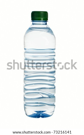 plastic mineral water bottle isolated on white #73216141
