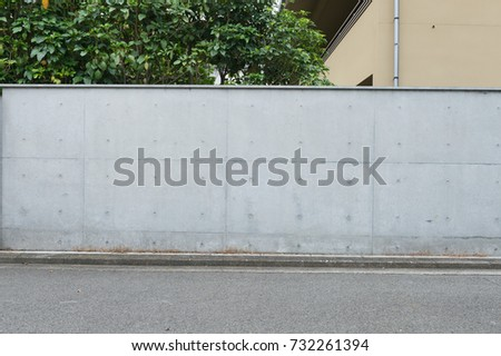 street wall background ,Industrial background, empty grunge urban street with warehouse brick wall #732261394