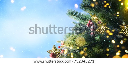 Christmas snow background. #732345271